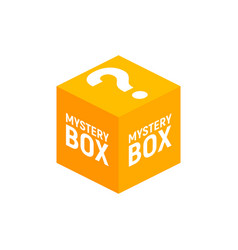 Mystery contest box lucky prize present surprise vector