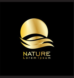 nature business logo vector image