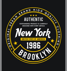 new york brooklyn 1986 vector image
