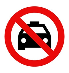 No taxi parking vector image