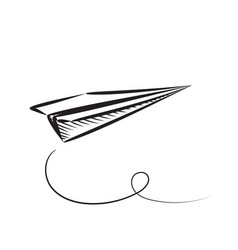 Paper plane sketched icon vector