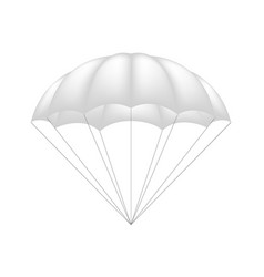 Parachute in white design vector