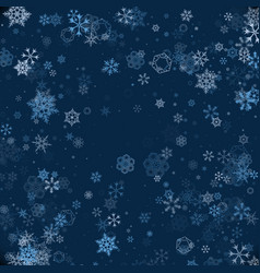 pattern of snowflakes christmas snowflakes vector image