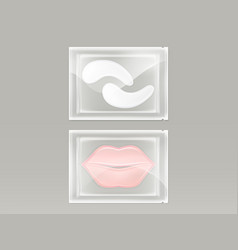 realistic set of patches for lips and eyes vector image