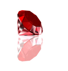 Red diamond isolated on white vector image