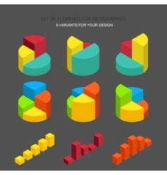 set element for infographics vector image