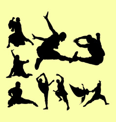 shaolin in action pose martial art extreme sport vector image