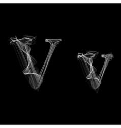 Smoke font Letter V vector image
