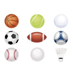 Sports balls set vector
