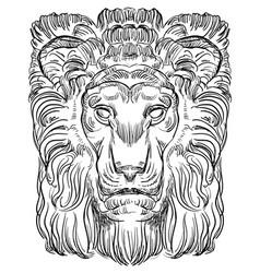 Stone lion vector