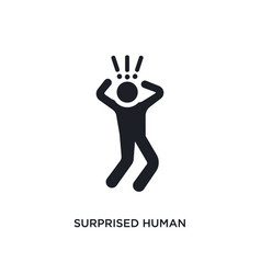 Surprised human isolated icon simple element from vector