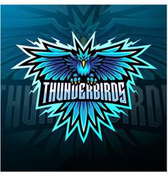 Thunder birds esport mascot logo design vector