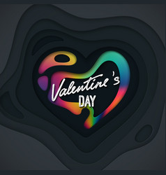 valentines day cover design vector image