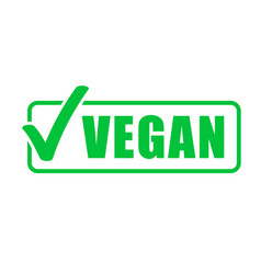 vegan icon vegetarian healthy food green stamp vector image