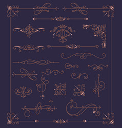 vintage ornaments decorations design elements vector image