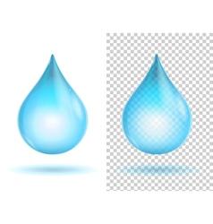 Water transparent drops vector
