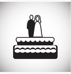 wedding cake icon on white background for graphic vector image