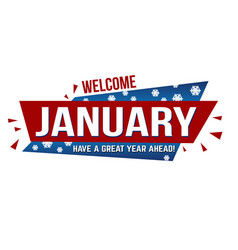welcome january banner design vector image