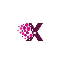 x letter pixel logo icon design vector image