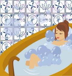 bathing vector image vector image