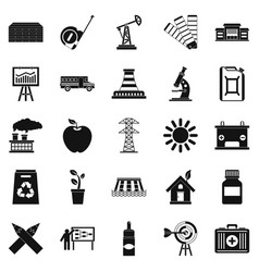 Charge icons set simple style vector