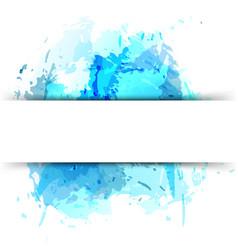 childish splatter watercolor art background vector image vector image