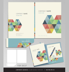 Corporate Identity business set folder design vector image vector image