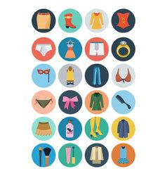 Fashion Flat Icons 2 vector image vector image