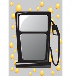gas pump nozzle vector image