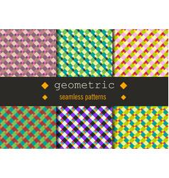 geometric rhombus patterns set vector image