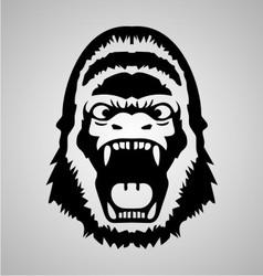 Gorilla Face vector image vector image
