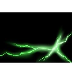 Green Lightning Cracks vector image
