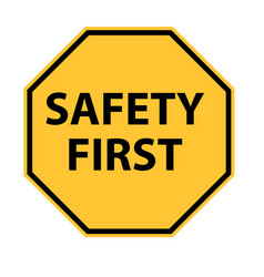 safety first logo on white background safety vector image