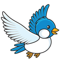 blue bird vector image vector image