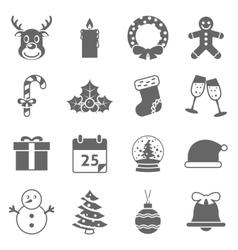 Christmas Holiday Icons vector image vector image