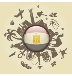 Symbol of Egypt vector image vector image