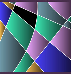 abstract colored stained glass mosaic vector image