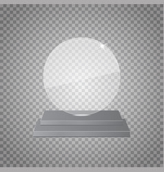 empty glass trophy awards on transparent vector image