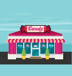 facade of candy shop flat vector image