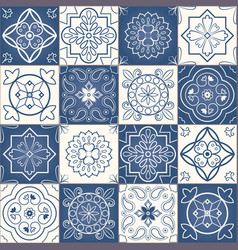 moroccan tiles vector image vector image