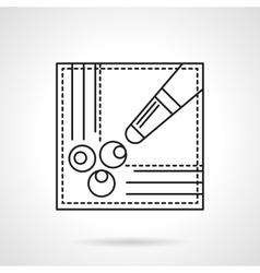 Billiard game flat line icon vector image vector image