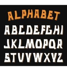 Decorative textured ABC letters Alphabet vector image