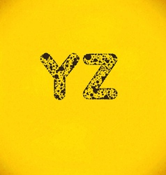 Dot alphabet from y to z vector