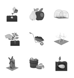 farm garden and other web icon in monochrome vector image