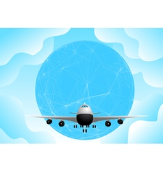 plane and earth vector image vector image