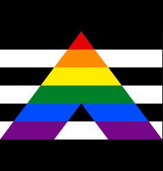 straight ally flag vector image