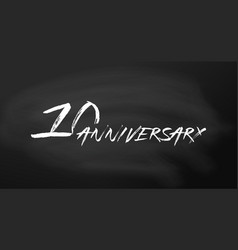 10 anniversary logo concept 10th years birthday vector