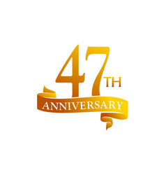 47 year ribbon anniversary vector