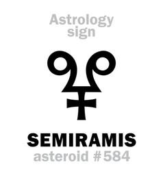 astrology asteroid semiramis vector image