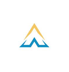aw logo simple design vector image